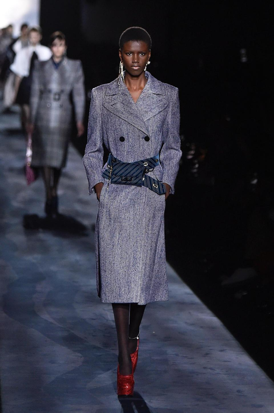 <p>After her debut at the Saint Laurent Fall 2019 runway, the Dominican model has been on the rise, booking shows like Gucci, Valentino, and Miu Miu.</p>