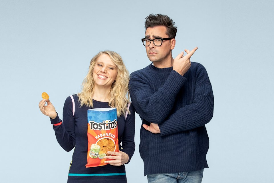 Kate McKinnon and Dan Levy star in commercial for Tostitos Habanero. (Courtesy: PepsiCo)