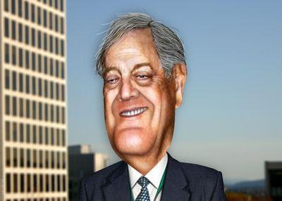 Caricature of David Koch (Donkey Hotey)