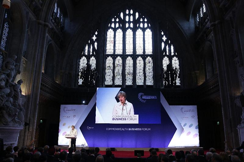 British PM Theresa May is to meet Commonwealth leaders over the plight of West Indians invited to work in Britain after World War II and who now face deportation (AFP Photo/Daniel LEAL-OLIVAS)