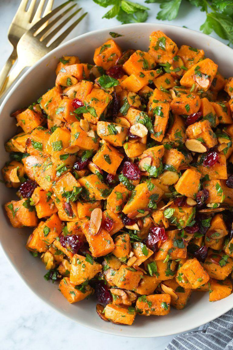 """<p>Upgrade your usual <a href=""""https://www.countryliving.com/food-drinks/g1428/potato-salad-recipes/"""" rel=""""nofollow noopener"""" target=""""_blank"""" data-ylk=""""slk:potato salad recipe"""" class=""""link rapid-noclick-resp"""">potato salad recipe</a> with this side that calls for sliced almonds, dried cranberries, and fresh mint. It might just become your new favorite version.</p><p><strong>Get the recipe at <a href=""""https://www.cookingclassy.com/moroccan-sweet-potato-salad/"""" rel=""""nofollow noopener"""" target=""""_blank"""" data-ylk=""""slk:Cooking Classy"""" class=""""link rapid-noclick-resp"""">Cooking Classy</a>.</strong></p>"""