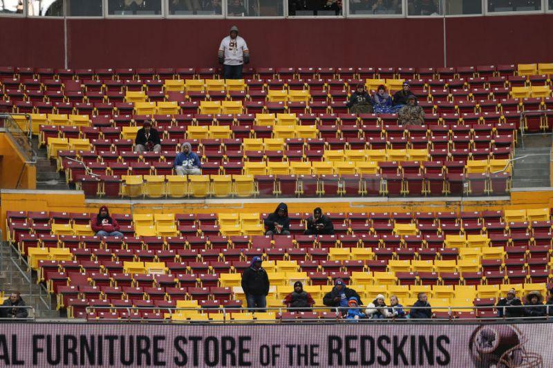 Lots of room to move around at FedEx Field. (Getty)