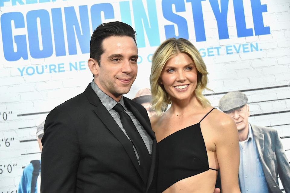 Nick Cordero and Amanda Kloots at the 'Going In Style' New York premiere on 30 March 2017 (Mike Coppola/Getty Images)