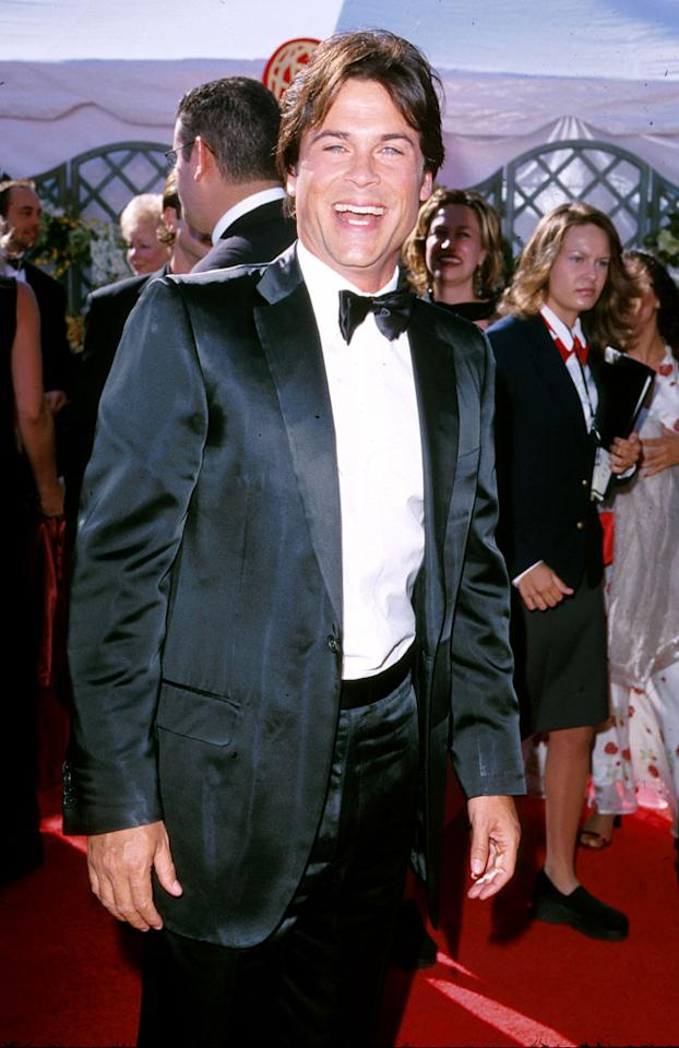 Rob Lowe at The 52nd Annual Primetime Emmy Awards.
