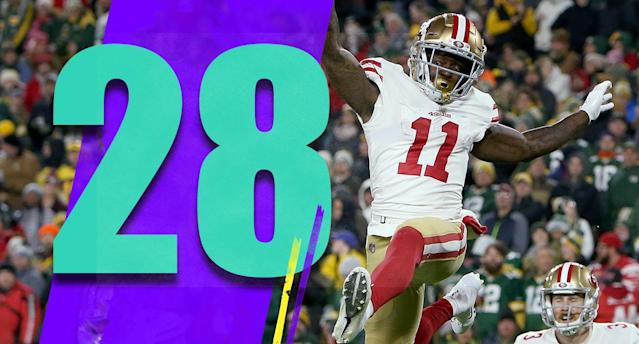 <p>The 49ers deserved better on Monday night. Aaron Rodgers just beat them in the end. But they played hard, again. The results just aren't there. (Marquise Goodwin) </p>