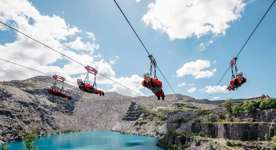 Call yourself an adrenalin junkie? Put yourself to the test on the world's fastest ziplining experience in Wales.  (Virgin Experiences)