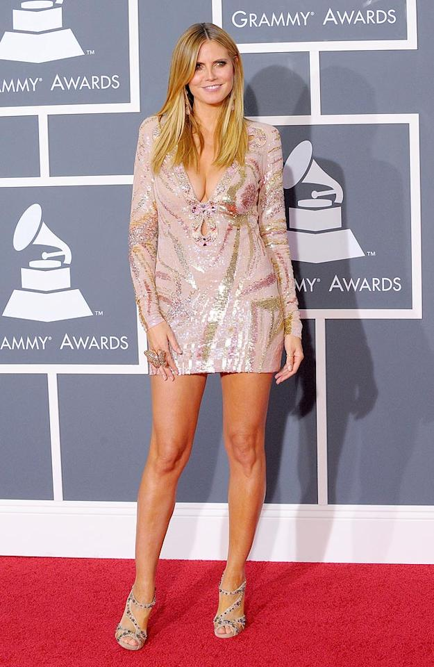 """Heidi Klum  Grade: A   Also in Pucci ... the """"Project Runway"""" hostess with the mostest, who completed her mod getup with an eye-catching butterfly cocktail ring. Jason Merritt/<a href=""""http://www.gettyimages.com/"""" target=""""new"""">GettyImages.com</a> - January 31, 2010"""