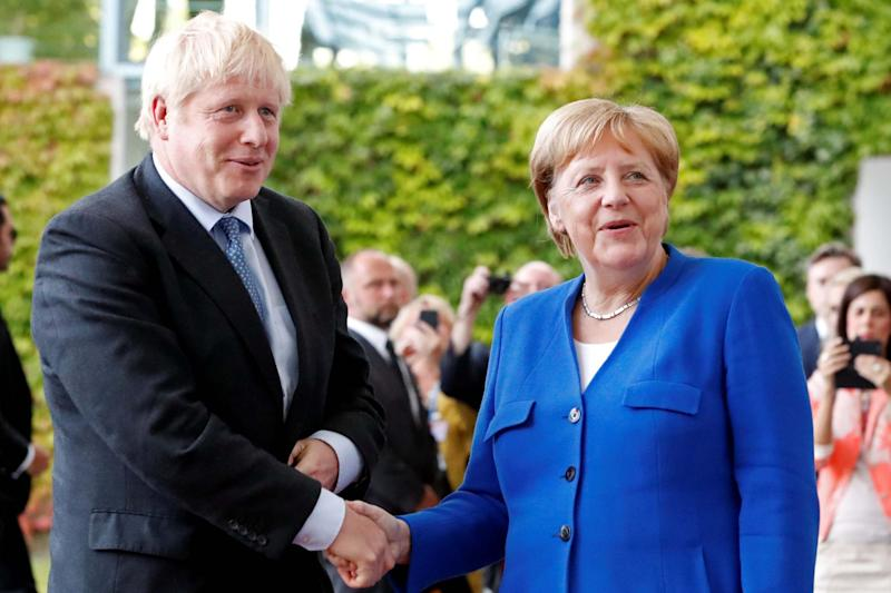 German Chancellor Angela Merkel and Prime Minister Boris Johnson (REUTERS)