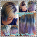 """<p>Color techniques are also getting revamped in 2018, as O'Halloran states that techniques like color banding break traditional blending rules and create a color result that's truly striking.<br>Usually the term """"color band"""" brings color correction to mind, but this creative color technique actually adds in solid bands (in horizontal stripes) of black or blond into bright colors in order to add noticeable contrast and dimension. And much like a reverse balayage, O'Halloran says that this look allows you to create three-tone color looks (think purple roots, white in the middle, and black ends), bringing a point of interest to the hair color as a whole.<br>""""Creating a fashionable band of color will be huge this year,"""" he says. """"On brunettes, bleaching out just the middle section of the hair (leaving the roots and the ends natural) with a band of color will be the new expression of balayage in 2018."""" (Photo: Instagram/angela_saloneuphoria) </p>"""