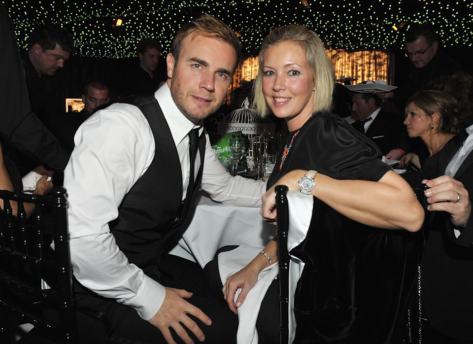 Gary Barlow pictured with wife Dawn in 2009. (Photo by Jon Furniss/WireImage)