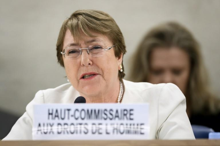 Bachelet, a former Chilean president, who took the UN rights office just over a week ago