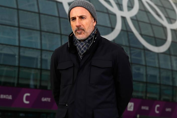 Matt Lauer reports for the NBC Today show in the Olympic Park ahead of the Sochi 2014 Winter Olympics on 5 February, 2014 in Sochi, Russia: Scott Halleran/Getty Images
