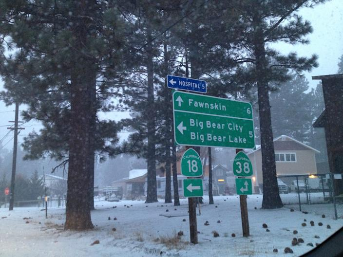 Some snow, and mostly rain, expected this weekend at the ski resort town of Big Bear Lake.