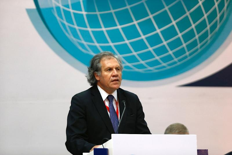 """Luis Almagro, Secretary General of the Organization of American States, pictured on August 18, 2015, said in an 18-page letter to the head of the Venezuelan election commission that conditions for the vote """"do not ensure transparency"""" (AFP Photo/Erika Santelices)"""