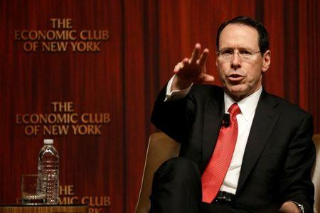 Chief Executive Officer of AT&T Randall Stephenson speaks during a moderated discussion before the Economic Club of New York, in New York