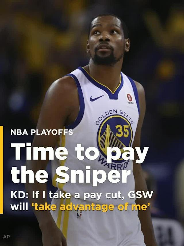 Don't expect Golden State Warriors superstar Kevin Durant to take another pay cut this summer.