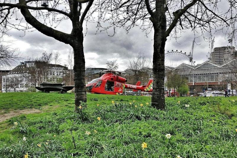 London's Air Ambulance attended the scene at Nelson Square (@TEJ_93/Twitter)