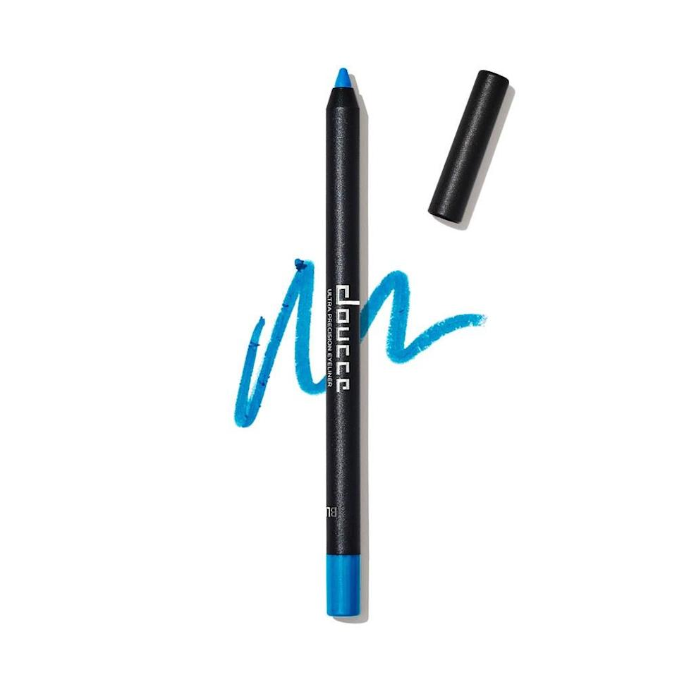 """<p>When we challenged Doucce to make a summery eyeliner just for <em>Allure</em> Beauty Box subscribers, they came back with this perfect shade of royal blue. It's bright and cheery and super pigmented. Sometimes we use it to create graphic winged looks. Other days we blur it out into a pretty haze of sky blue (trace your lash line, then smudge the color with your finger or a small, dense shadow brush).</p> <p><strong>Value:</strong> <a rel=""""nofollow noopener"""" href=""""https://www.allure.com/review/doucce-ultra-precision-eyeliner?mbid=synd_yahoo_rss"""" target=""""_blank"""" data-ylk=""""slk:Doucce Ultra Precision Eyeliner in Blue"""" class=""""link rapid-noclick-resp"""">Doucce Ultra Precision Eyeliner in Blue</a>, $22</p> <p><strong>—<a rel=""""nofollow noopener"""" href=""""http://beautybox.allure.com/?source=EDT_ALB_JULY_2018_GALLERY_UNBOXING"""" target=""""_blank"""" data-ylk=""""slk:Subscribe Now"""" class=""""link rapid-noclick-resp"""">Subscribe Now</a>—</strong></p>"""