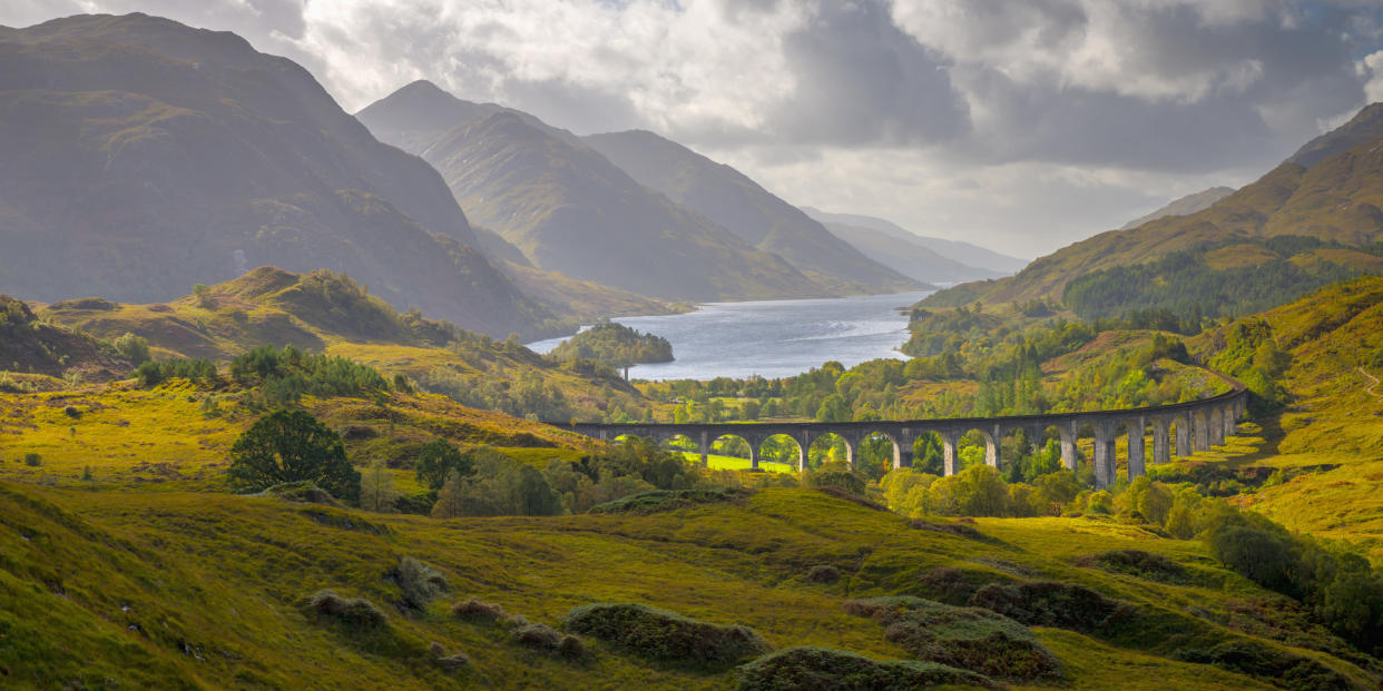 The West Highland Line will take you over the Glenfinnan Viaduct (Getty Images)