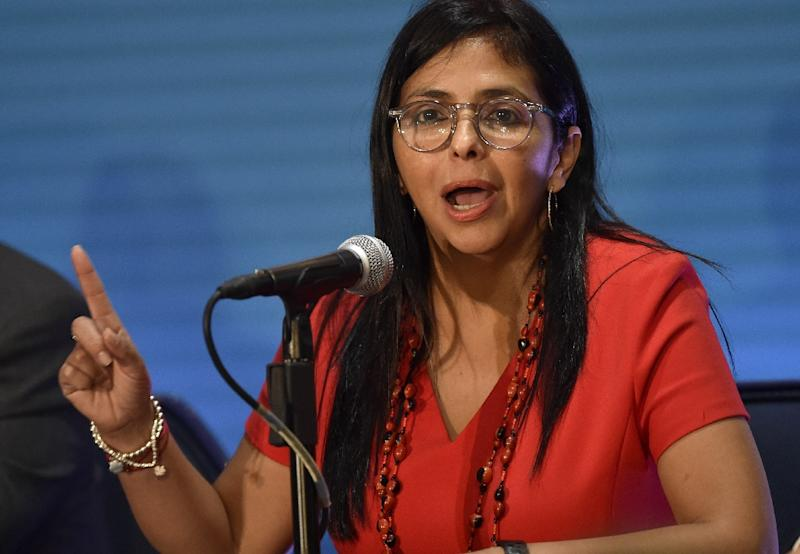 Venezuelan Foreign Minister Delcy Rodriguez  lashed out at countries that supported a US-backed regional plan to address its raging crisis