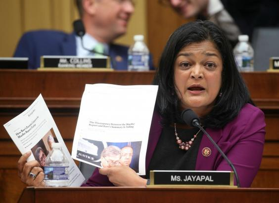 A member of the house judiciary committee, Jayapal supports impeaching the president (Reuters)