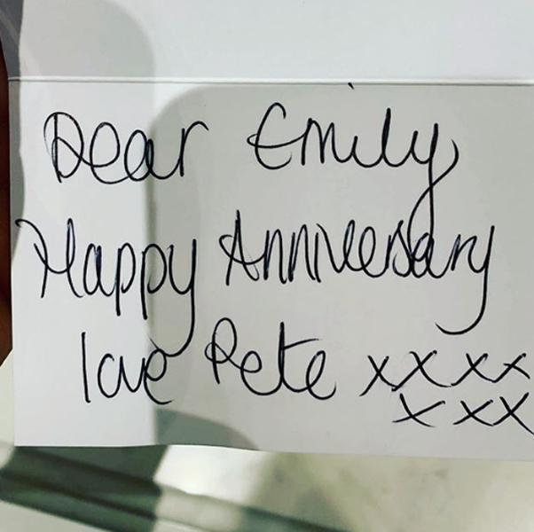 peter andre anniversary card to wife emily