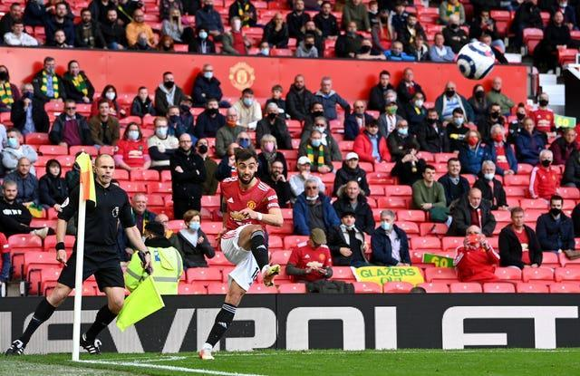 Up to 10,000 fans were expected at Old Trafford as Manchester United hosted Fulham