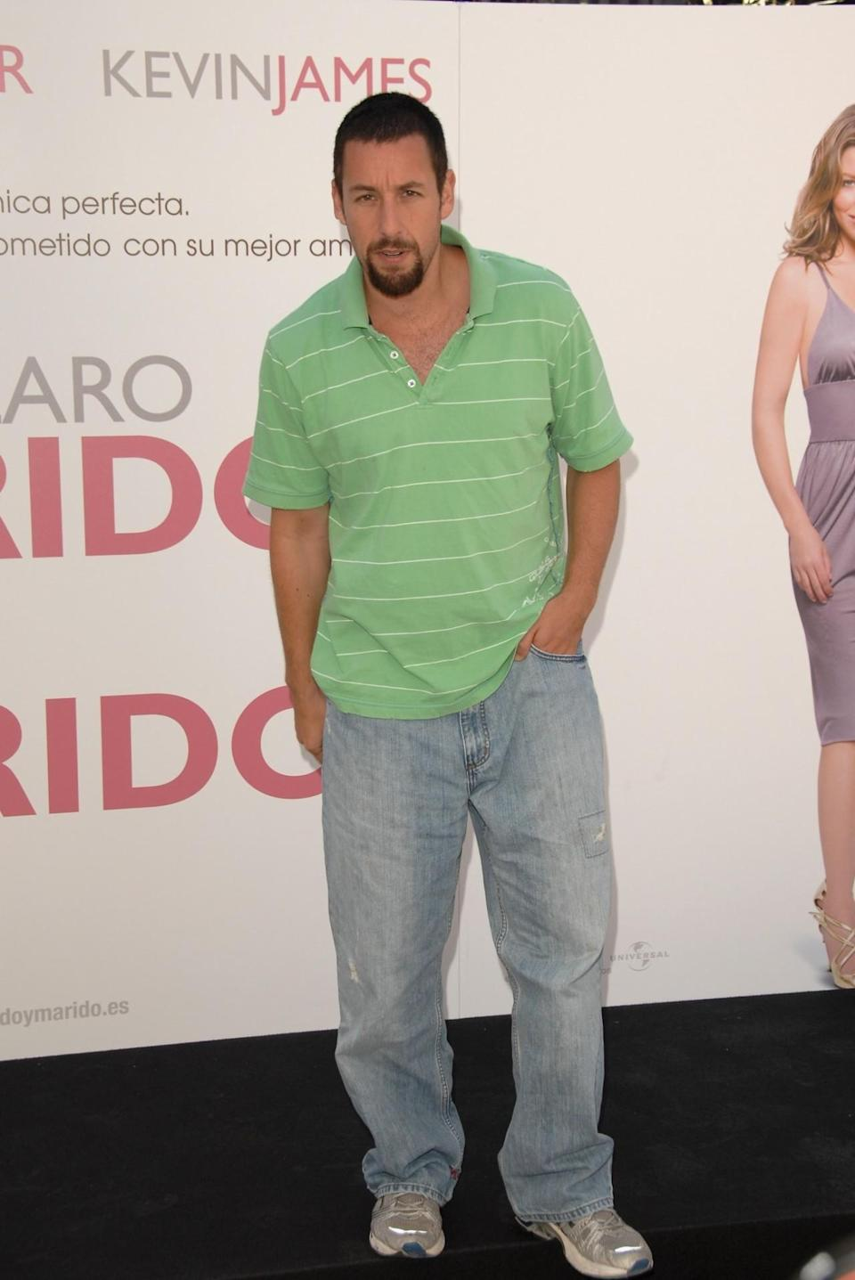<p>The former <i>Saturday Night Live</i> star raised the bar when he put on a polo shirt and jeans to promote <i>I Now Pronounce You Chuck and Larry</i> in Madrid. (Photo: Carlos Alvarez/Getty Images)</p>
