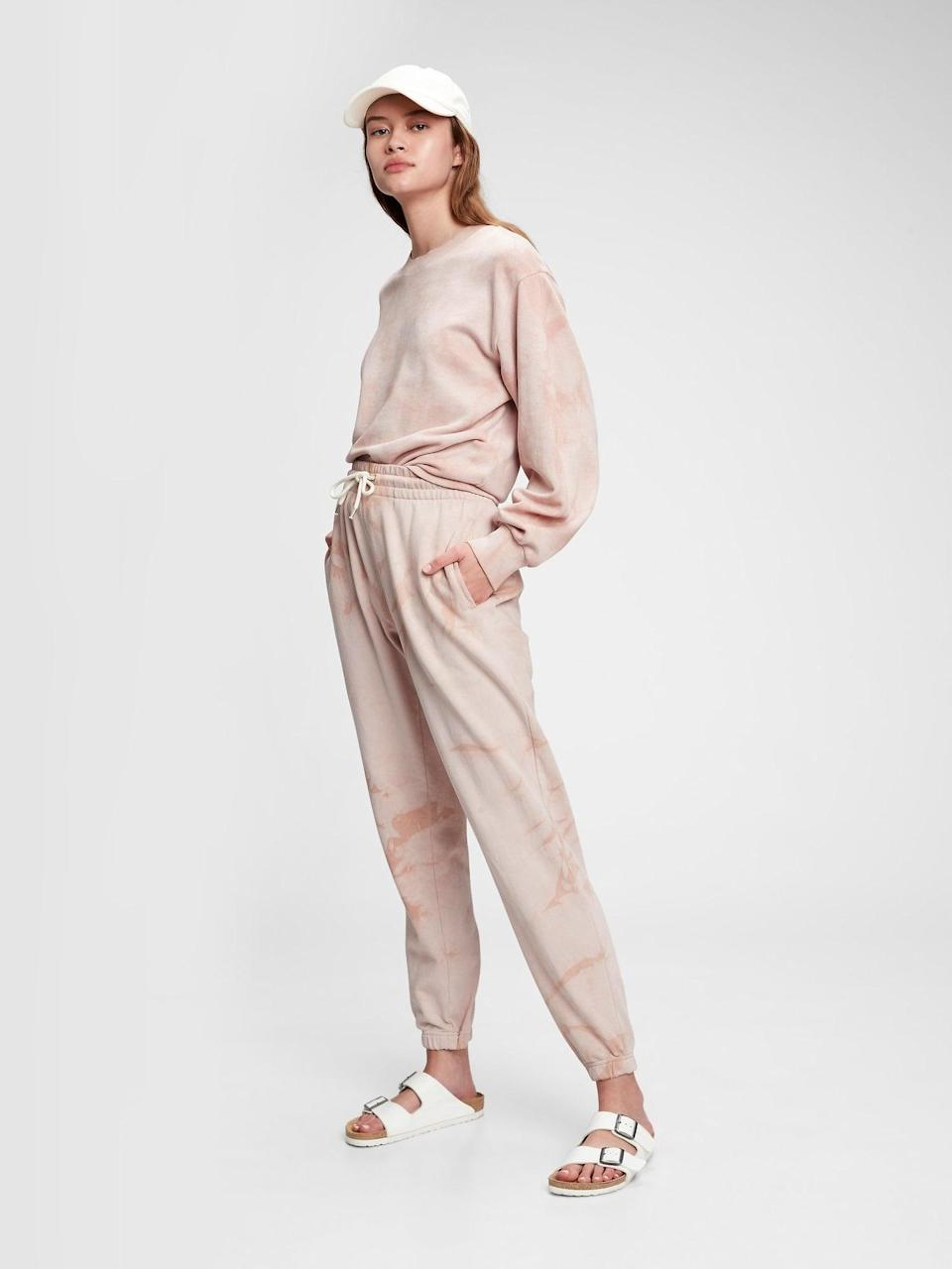 <p>We love these tonal pink tie-dye <span>Vintage Soft Classic Joggers</span> ($55) and the matching <span>Balloon Sleeve Crewneck Sweatshirt</span> ($60).</p>
