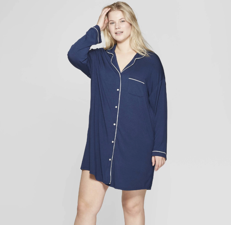 ae9b5155c0d View photos. Stars Above Women's Plus Size Beautifully Soft Notch Collar  Nightgown (Photo: Target)