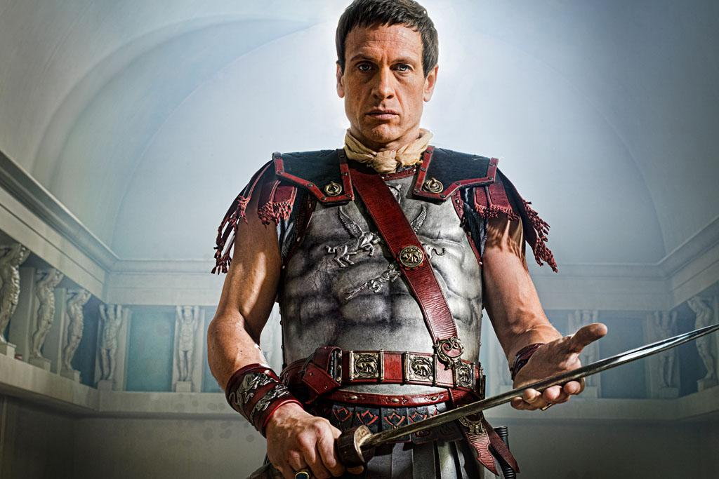 "Simon Merrells as Crassus in ""Spartacus: War of the Damned"" on Starz."