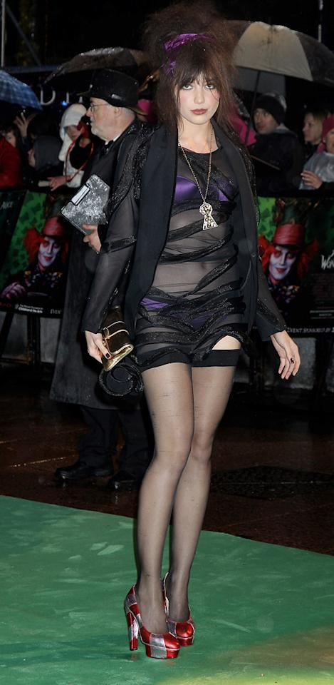 "Daisy Lowe at the London premiere of <a href=""http://movies.yahoo.com/movie/1810078365/info"">Alice in Wonderland</a> - 02/25/2010"
