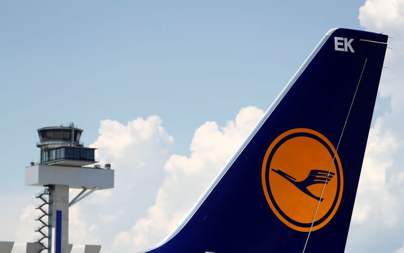Planes of German air carrier Lufthansa AG are seen on the tarmac at Fraport airport in Frankfurt