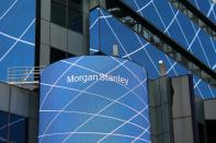 FILE PHOTO: The corporate logo of financial firm Morgan Stanley is pictured on the company's world headquarters in New York