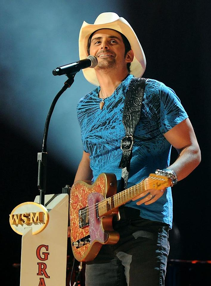 """October 28: Brad Paisley turns 38 Rick Diamond/<a href=""""http://www.gettyimages.com/"""" target=""""new"""">GettyImages.com</a> - May 16, 2010"""
