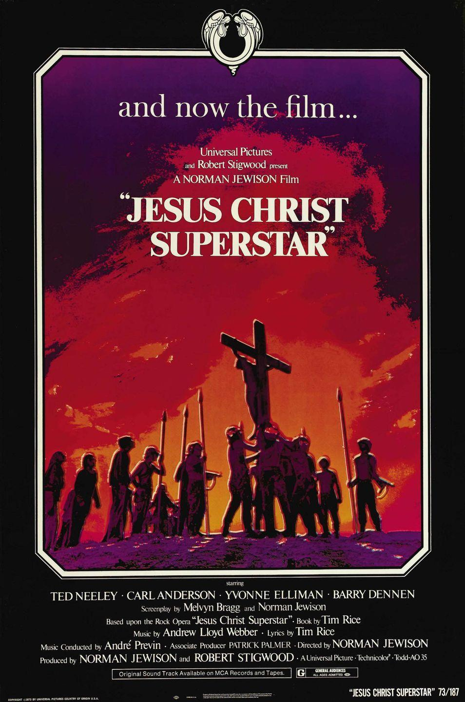 "<p>Andrew Lloyd Webber's retelling of the story of Jesus in his final days set to a rock score is admittedly not an easy sell. You'll probably change your tune sometime in the middle of ""Heaven on Their Minds,"" however. </p><p><a class=""link rapid-noclick-resp"" href=""https://www.amazon.com/Jesus-Christ-Superstar-Ted-Neeley/dp/B0036DJLJY/ref=sr_1_4?tag=syn-yahoo-20&ascsubtag=%5Bartid%7C10063.g.34344525%5Bsrc%7Cyahoo-us"" rel=""nofollow noopener"" target=""_blank"" data-ylk=""slk:WATCH NOW"">WATCH NOW</a></p>"