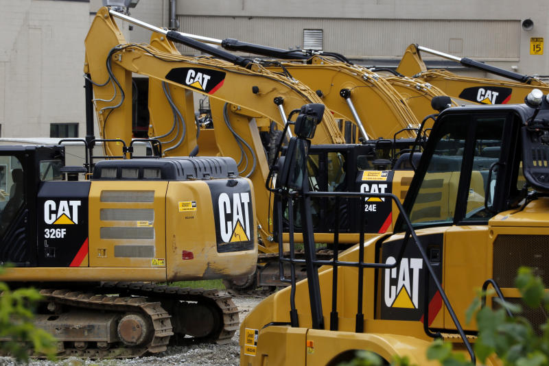 Caterpillar earnings on Tuesday will set the tone for investors during the busiest week of first quarter earnings. (AP Photo/Gene J. Puskar)