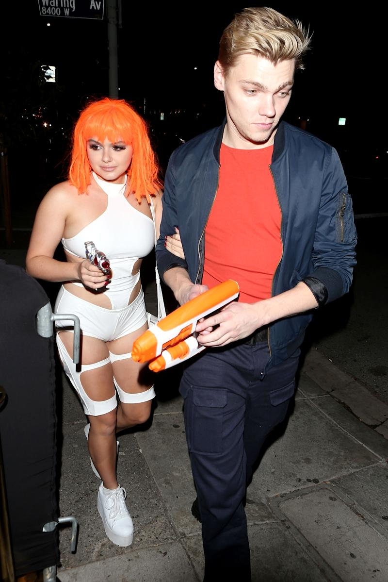 ... 30-year-old boyfriend Levi Meaden and the couple got into the holiday spirit with coordinating costumes from the 1997 sci-fi film The Fifth Element.  sc 1 st  Yahoo & Ariel Winter Gets Her Fifth Element On in Sexy Sci-Fi Halloween Costume