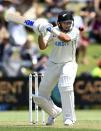 New Zealand's Ross Taylor bats during play on day one of the first cricket test between Pakistan and New Zealand at Bay Oval, Mount Maunganui, New Zealand, Saturday, Dec. 26, 2020. (Andrew Cornaga/Photosport via AP)