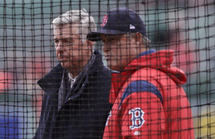 Red Sox president Dave Dombrowski hit the waiver wire to plug some holes. (AP)