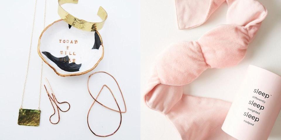 """<p>Celebrate the women in your life with these thoughtful, stylish gifts for her. From beauty products and jewelry to <a href=""""https://www.housebeautiful.com/shopping/home-gadgets/tips/g1978/tech-gifts/"""" rel=""""nofollow noopener"""" target=""""_blank"""" data-ylk=""""slk:tech accessories"""" class=""""link rapid-noclick-resp"""">tech accessories</a> and tea towels, there's a little something for everyone here, whether you're <a href=""""https://www.housebeautiful.com/shopping/g3907/christmas-gifts-for-mom/"""" rel=""""nofollow noopener"""" target=""""_blank"""" data-ylk=""""slk:shopping for your mom"""" class=""""link rapid-noclick-resp"""">shopping for your mom</a>, your sister, or your BFFs. Plus, these presents work well year-round—they're great for for the holidays (now's a great time to get a head start on your Christmas shopping!), sure, but they're <em>also</em> smart ideas for birthdays, anniversaries, and those times you want to celebrate her, just because. These gifts won't just look good on a shelf, they'll make her life easier and better too. Plus, there are plenty of <a href=""""https://www.housebeautiful.com/shopping/g1543/personalized-gifts/"""" rel=""""nofollow noopener"""" target=""""_blank"""" data-ylk=""""slk:personalized gift options"""" class=""""link rapid-noclick-resp"""">personalized gift options</a> to choose from if you know she can't resist a good monogram. </p>"""