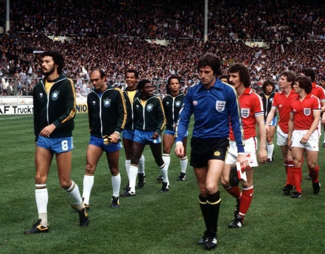 When Brazil came to Wembley in 1981, Clemence captained the side