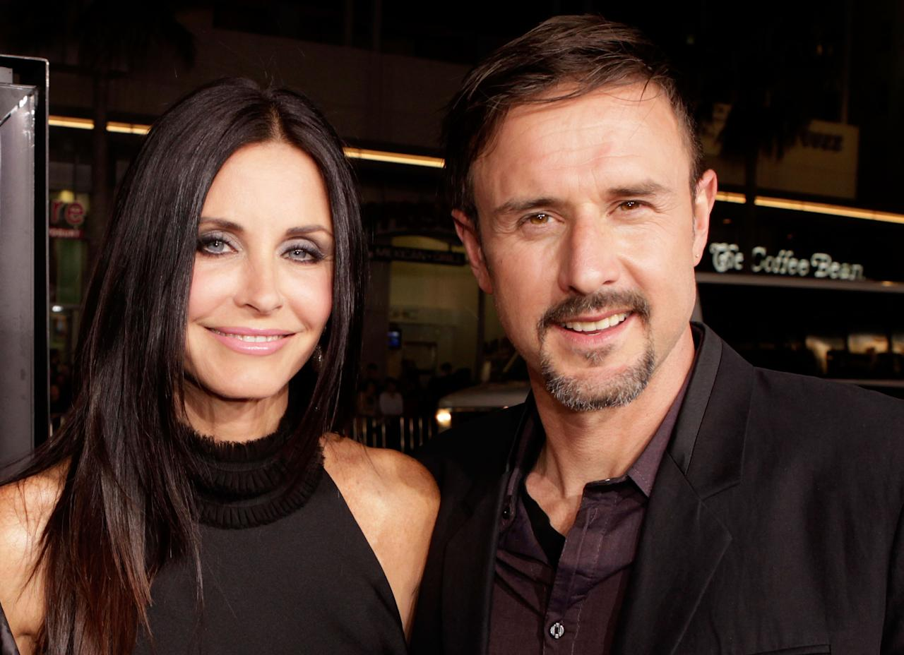 "<p>These two are the absolute epitomy of friendly exes. Speaking to <em>People</em> magazine shortly after their 11-year marriage came to an end in 2010 Courteney said: ""[David is] my favourite person in the world. No matter what happens in our future, he's my very best friend."" In fact, they've remained so close that Arquette even appeared in Cox's 2015 directorial debut, 'Just Before I Go'. <em>[Photo: Getty]</em> </p>"