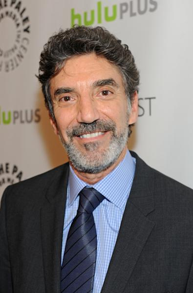 Chuck Lorre poses on arrival at the Paley Center for Media's PaleyFest, honoring The Big Bang Theory at the Saban Theatre, Wednesday March 13, 2013 in Los Angeles, California. (Photo by Kevin Parry/Invision/AP)