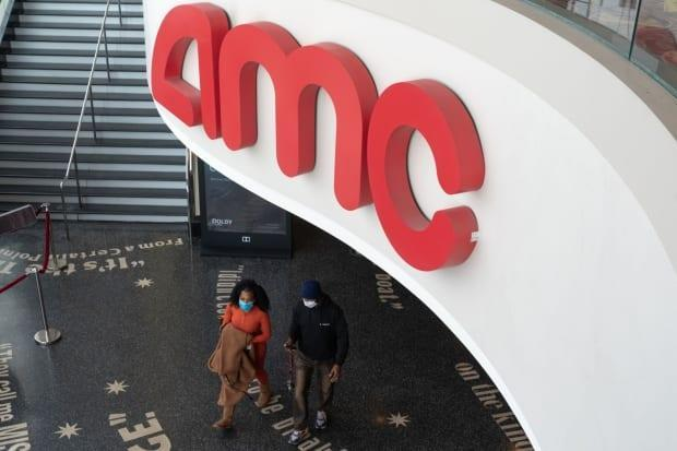 Shares in AMC hit their highest level of the year on Thursday, despite the movie theatre chain still dealing with drastically limited audiences and ticket revenues because of the pandemic. (Bing Guan/Bloomberg - image credit)