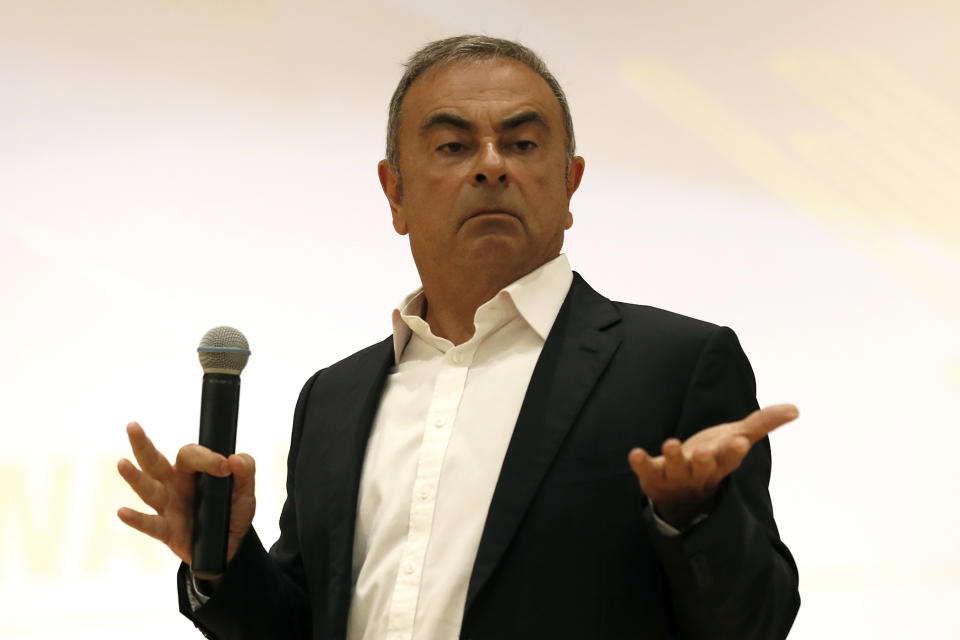 Carlos Ghosn, ex-presidente da Nissan. (Foto: AP Photo/Hussein Malla)