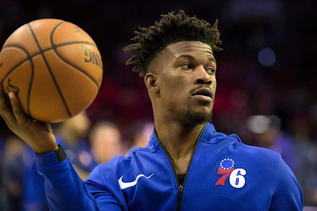 One hypothesis: somebody in the Sixers locker room or building simply doesn't care very much for Jimmy Butler. By Andrew Kulp