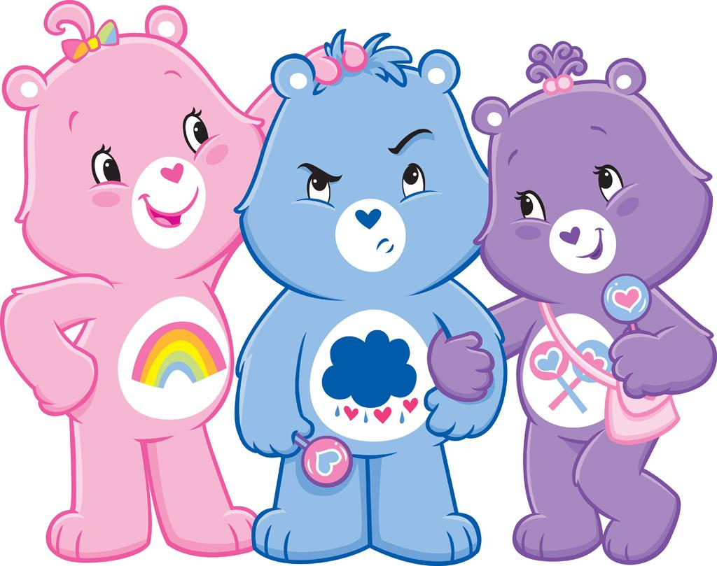 """<b>2007-2008</b><br><br>The TV cast of """"Adventures in Care-a-Lot"""" featured the Care Bears in 2-D form. This is the first time that the bears are visually distinguished as different sized boys and girls."""