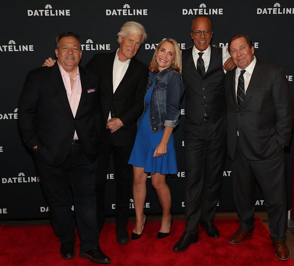 """Josh Mankiewicz, Keith Morrison, Andrea Canning, Lester Holt and Dennis Murphy attend the """"Dateline NBC"""" screening premiere at Quad Cinema in New York City on Sept. 25, 2019."""