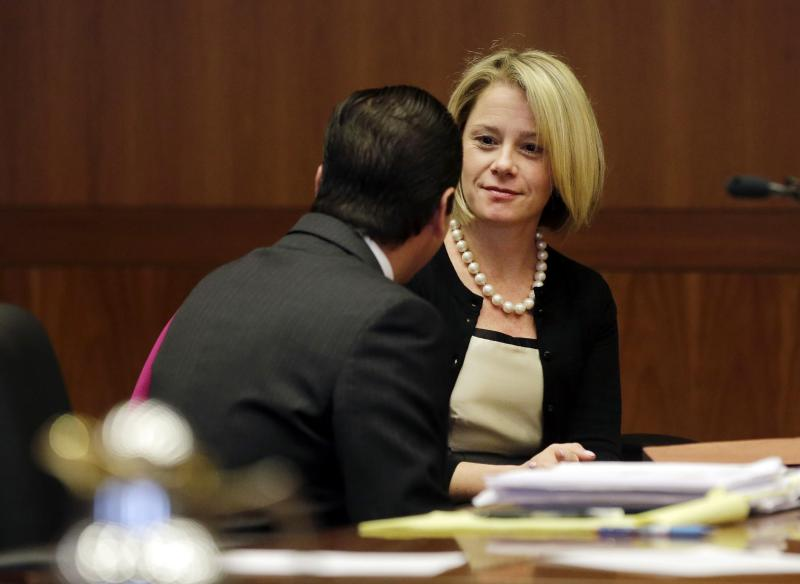 New Jersey Governor Chris Christie's former Deputy Chief of Staff Bridget Anne Kelly waits in court for a hearing in Trenton